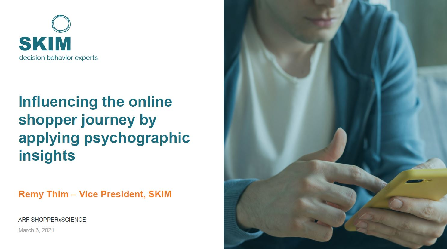 Influence the online shopper journey by applying psychographic insights