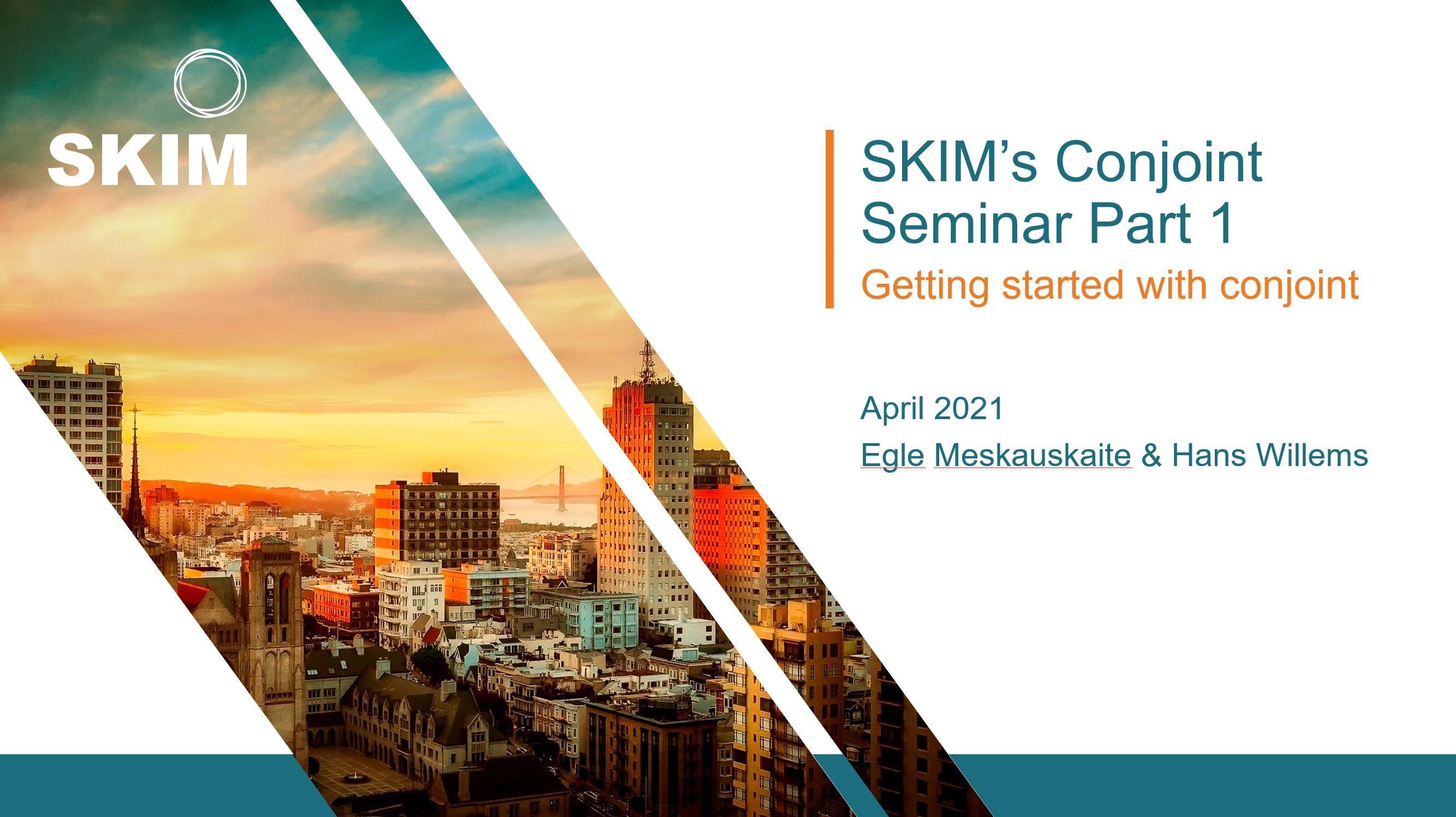 SKIM Conjoint Seminar 2021