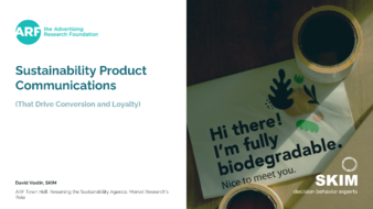 Sustainaility product communications cover